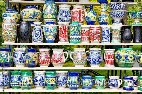 Photo  Romanian traditional handmade pottery