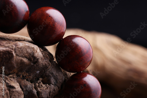 Fotografía  Lobular red sandalwood prayer beads bracelets