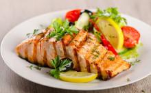 Salmon With  Fresh Salad.