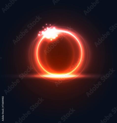 Fotografie, Obraz  Glowing frame with light effects, hi-tech background