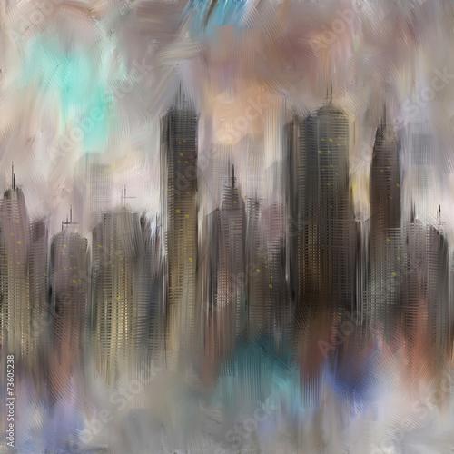 Obraz Miasto tło, abstrakcja - fototapety do salonu