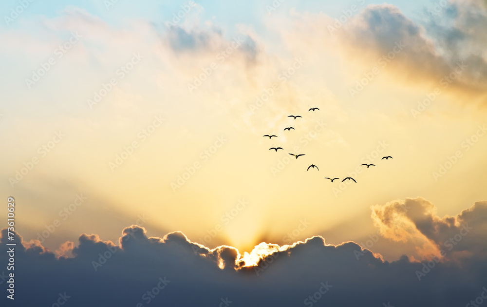 Fototapety, obrazy: el sol se asoma entre las nubes