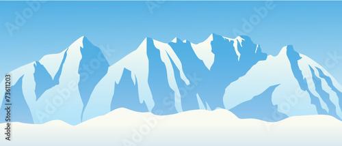 Hochgebirge mit Schnee #73611203