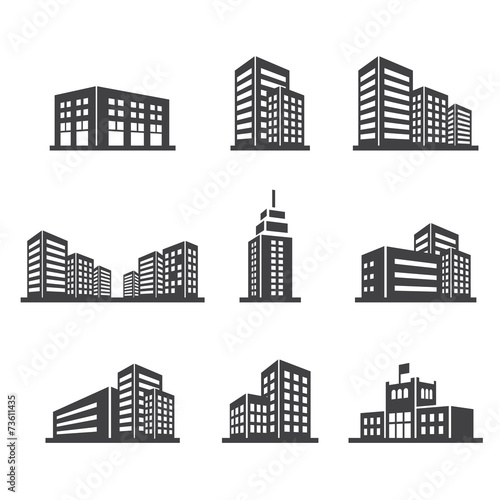 building icon Wall mural