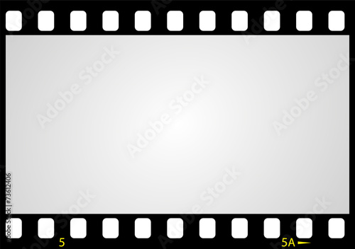Poster  negative picture film frame, vector