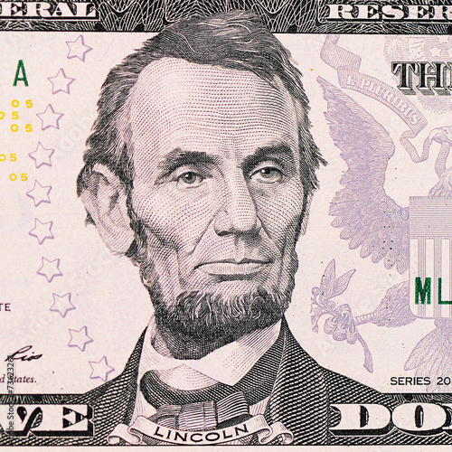 The face Lincoln the dollar bill Wall mural