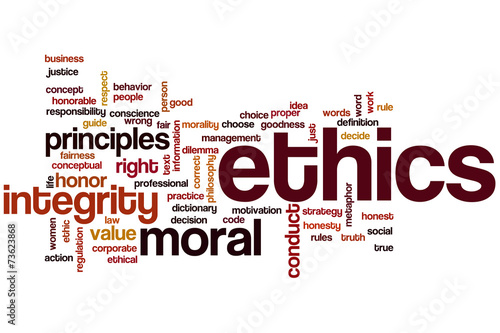 Fotografie, Obraz  Ethics word cloud