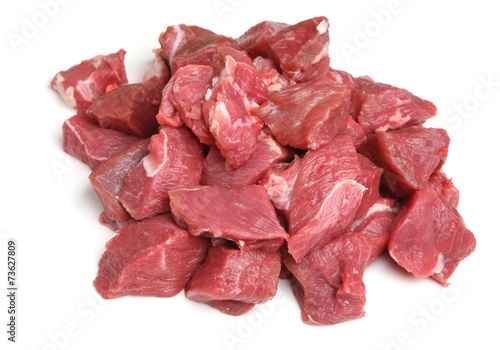 Boneless Lamb Steak Meat Diced