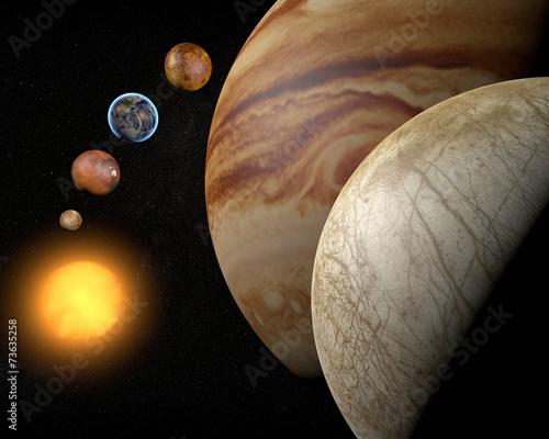 obraz dibond Satelitarna Europa, luna di Giove, Spazio sistema Solare