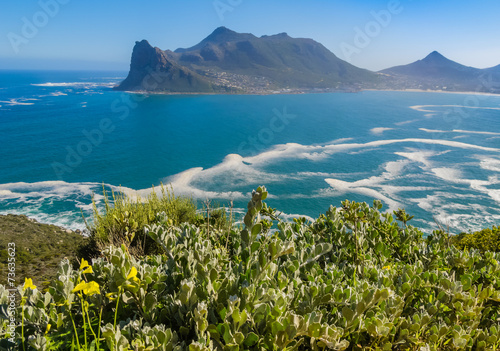 Fotografering  View of Hout Bay from Chapman's Peak drive, South Africa