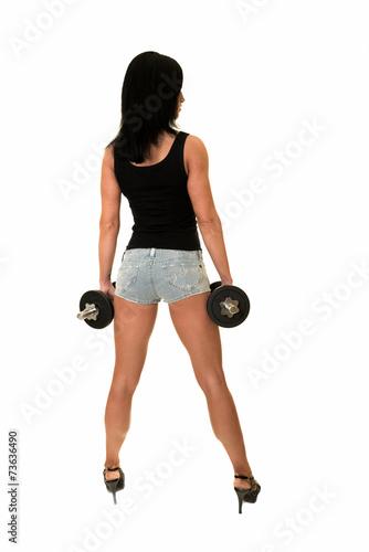 Fotografie, Obraz  fille fitness isolé sur fond blanc