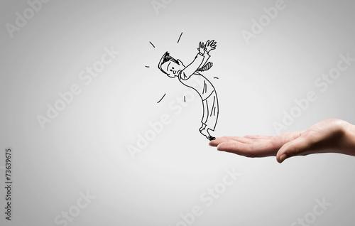 Valokuva Funny caricature