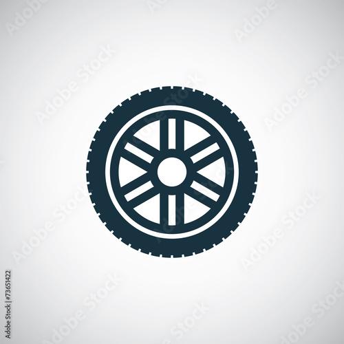 car wheel icon Wall mural
