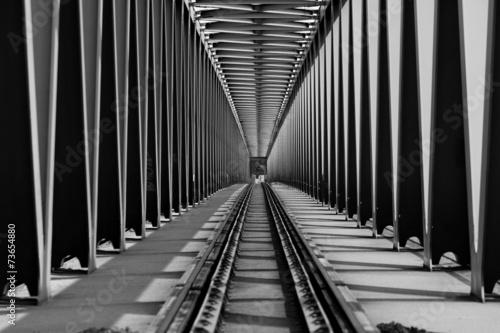 Canvas Prints Bridge Railway bridge