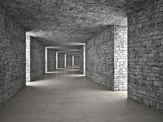 abstrakcyjny tunel