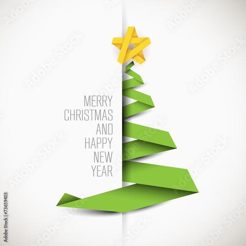 Fotografía  Simple vector card with christmas tree