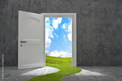 Fotografia  porta sul futuro ecologico