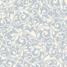 Seamless Victorian Pattern On Brown Background