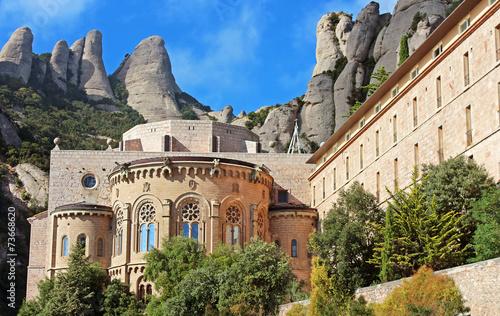 Montserrat Monastery is a beautiful Benedictine Abbey, Greece Canvas Print