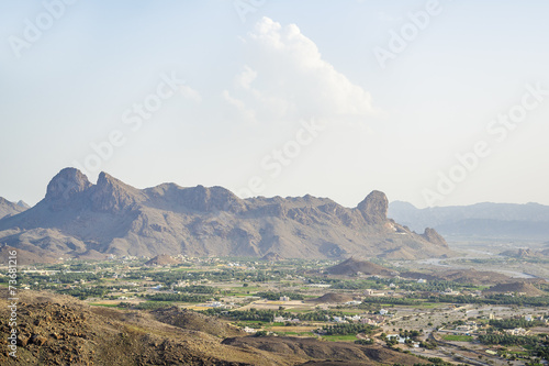 Foto op Aluminium Aubergine Landscape and mountains Oman