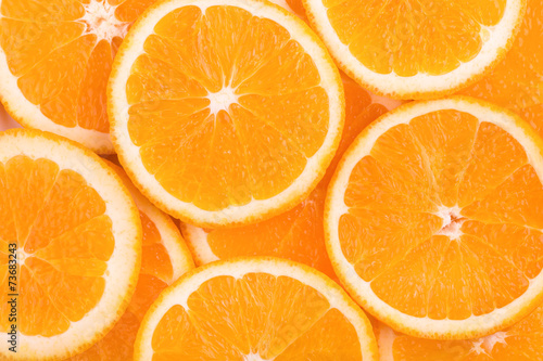 background of orange slices