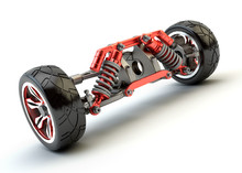 Front Axle With Suspension And...