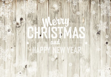Merry Christmas Greeting On Wo...