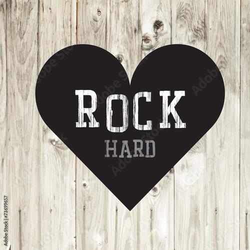 Papiers peints Affiche vintage Hard Rock Concept Card