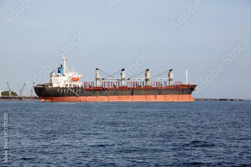 Foto op Plexiglas Arctica Cargo ship.