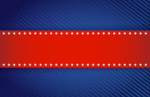 Red And Blue Patriotic Illustr...