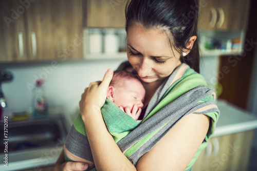 Photo  Baby in the wrap carrier