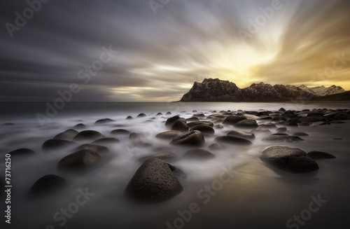 Photo sur Toile Bestsellers Lofoten beach, Norway