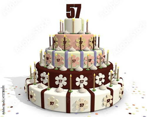 Photo  Chocolade taart - 57 jaar