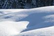 canvas print picture - Schnee Formation mit Schatten u Licht