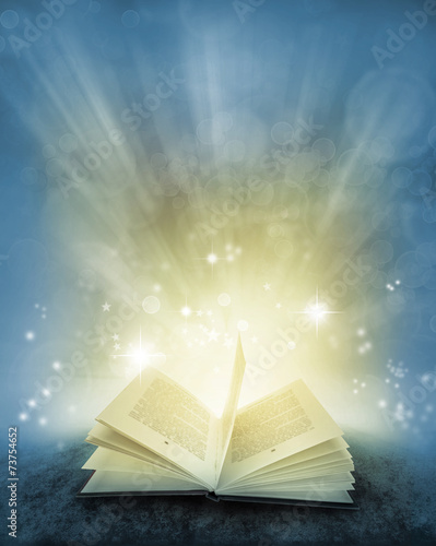 Book and magical background Poster Mural XXL