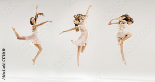 Multiple picture of the ballet dancer Wallpaper Mural
