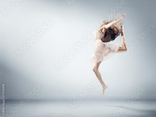 Fotografie, Obraz  Flexible young girl in ballet figure
