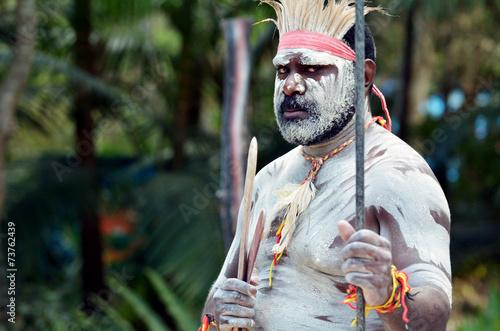 fototapeta na lodówkę Kultura Aborygenów pokaz w Queensland Australia