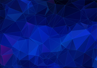Deep blue triangle background
