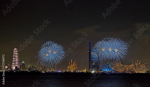 Photo  New year celebration in Burj Al Arab and Burj Khalifa