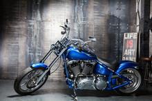 Blue Chrome Road Bike