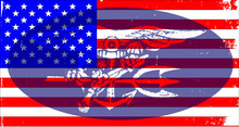 Navy Seal Badge And US Flag
