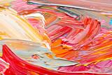 Fototapeta Tęcza - Abstract art background. Hand-painted background