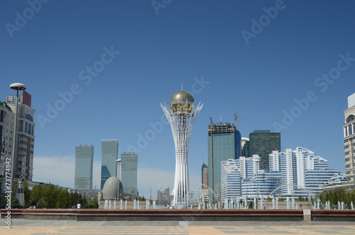 Photo Water Green Boulevard in Astana. Kazakhstan