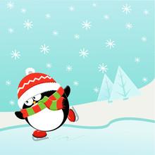 Ice Skating Penguin