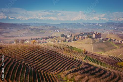 In de dag Toscane Colline delle langhe in autunno