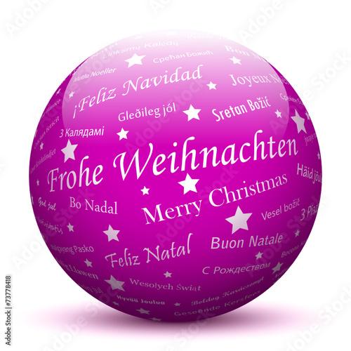 Weihnachten Grüße Bilder.Lila Kugel Frohe Weihnachten Grüße Weihnachtsgrüße Gruß 3d