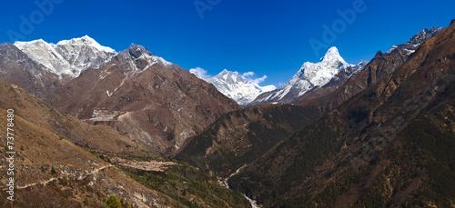 Wall Murals Nepal Great Himalayan range, Solu Khumbu, Sagarmatha NP, Nepal