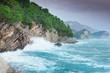 beautiful seascape, rocks on the sea shore