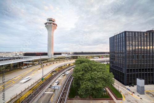 Foto op Aluminium Luchthaven Air traffic control tower